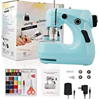 Sewing Machine , Portable 2-Speed Household Mini Electric Sewing Machines for Beginners , with Sewing 42pcs Kit and…