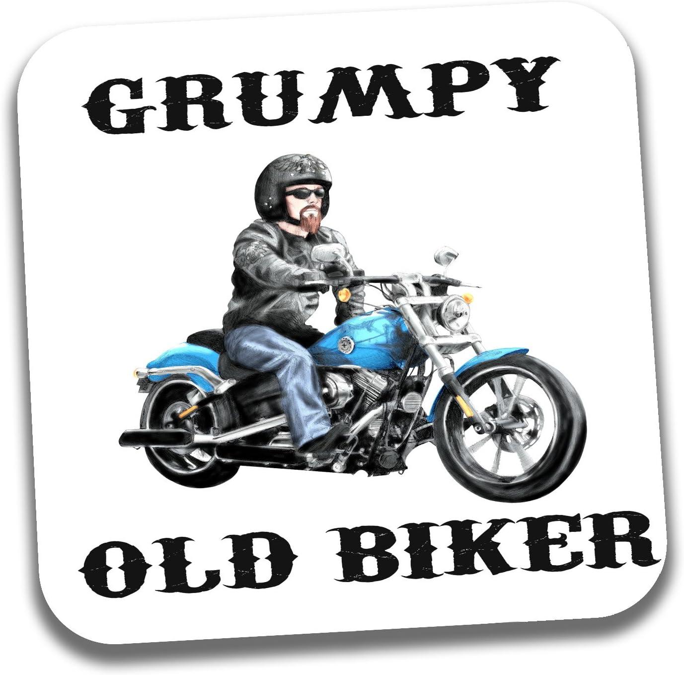 Divertido regalo de Harley Biker para el Día del Padre, cumpleaños, Navidad, para un viejo ciclista gruñón Posavasos.