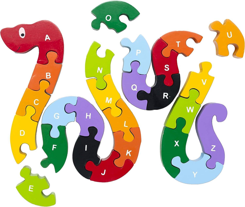CrocodileEducational Toys Alphabet PuzzleWooden Alphabet PuzzleSnake