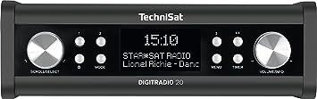 TechniSat DIGITRADIO 20 – Kompaktes DAB+ Küchen- & Badezimmerradio – Empfangstarkes UKW Unterbauradio mit Uhr