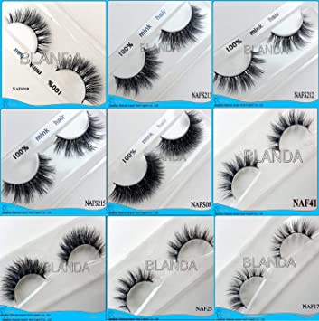 459a114b32a Amazon.com : Mink Lashes 3D Mink Eyelashes Natural False Eyelashes 300pair  Handmade Fake Eye Lashes Extension for Beauty, 100pair a lot : Beauty