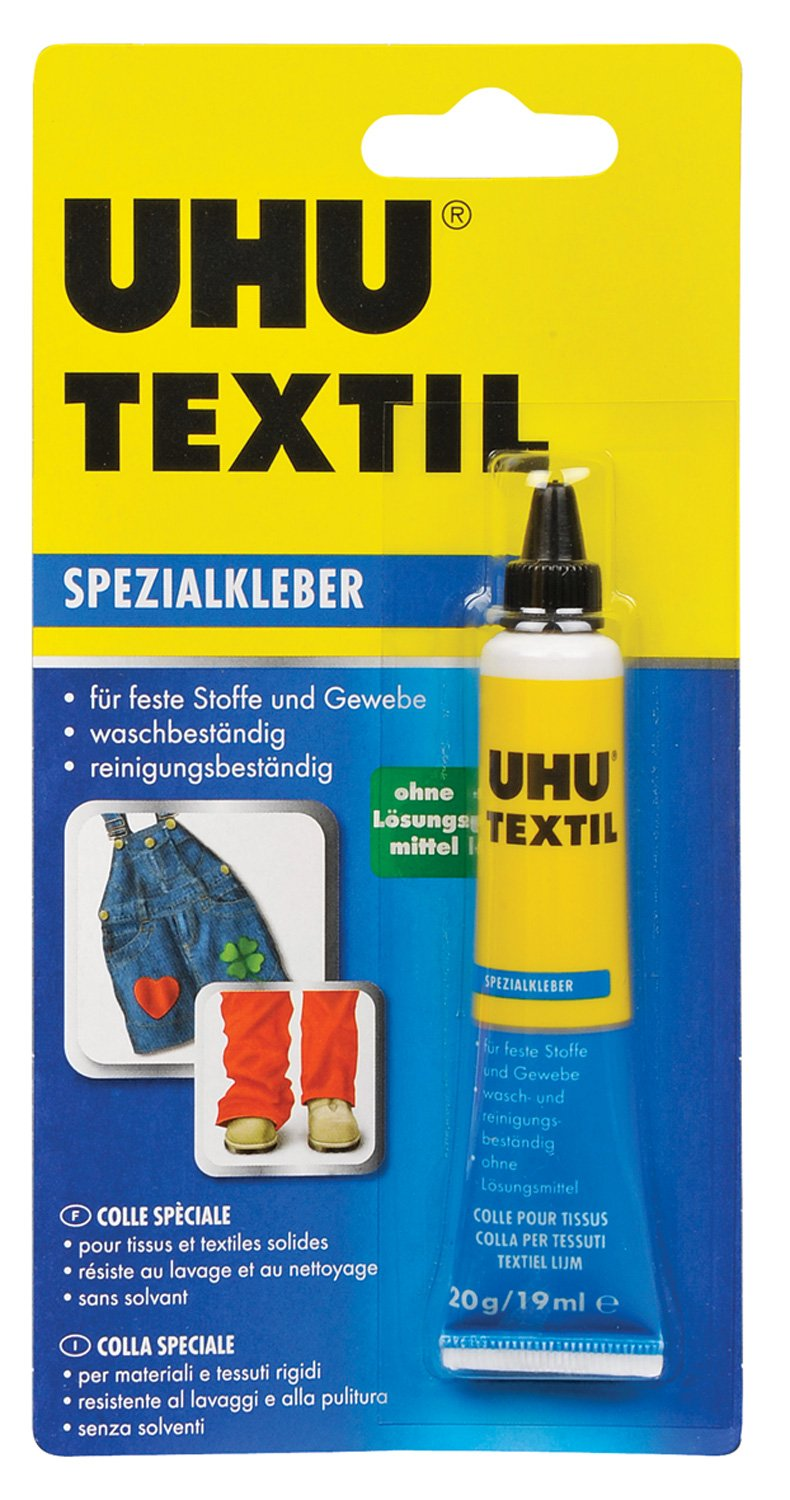 UHU colla speciale per tessuti, 20 g in Tube, 48665
