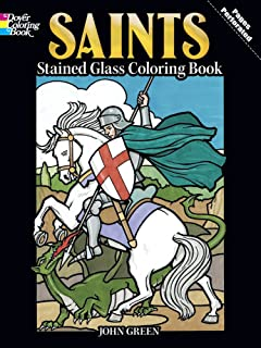 Saints Stained Glass Coloring Book Holiday