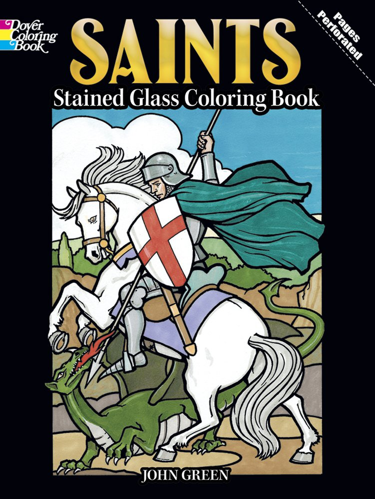 Saints Stained Glass Coloring Book (Holiday Stained Glass Coloring Book) PDF