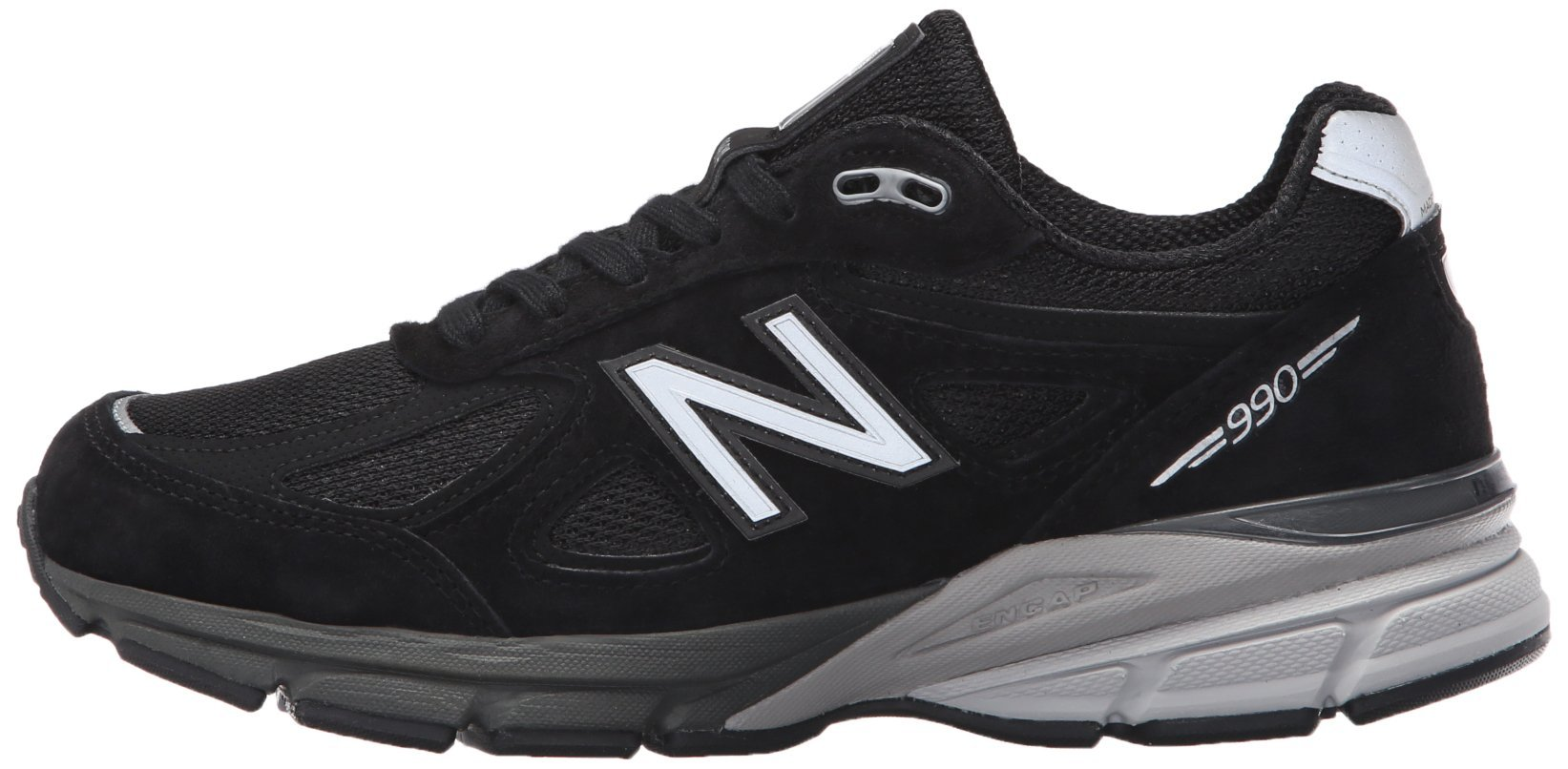New Balance Women's W990V4 Run Shoe-W, Black/Silver, 9 D US