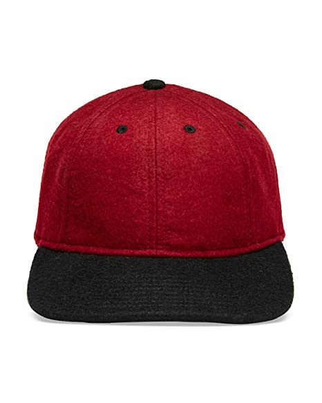 Gents Men s Luxe Ace Flat Brim Baseball Cap Red Black One Size Fits ... 32dd557eae0