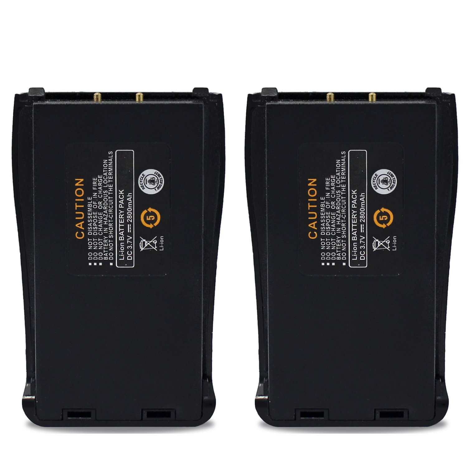 abcGoodefg 2800mAh Replacement rechargeable Li-ion Battery Pack for Baofeng Two way radio 888S 777S 666S H777 Walkie Talkies (2 PCS)