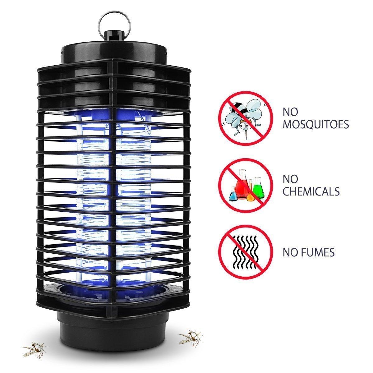 Maxineer Electrónico Lámpara Antimosquitos Interior,Lámpara de Mosquitos Electrónica Lámpara Anti-Mosquitos/Anti-Insectos Mata Trampa Mosquitos con Luz UV ...