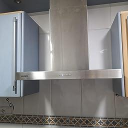 Cata extractora - Modelo SYGMA 700 extracción ,Campana extractora cocina 850m3/h-340m3/h, Acabado en Acero inoxidable, 3 Velocidades: 181.95: Amazon.es: Grandes electrodomésticos