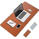 "LeadsaiL Desk Pad, 31.5"" x 15.7"" PU Leather Office Desk Mat, Dual Side, Ultra Thin, Extra Large, Waterproof Desk Blotter, Lap"