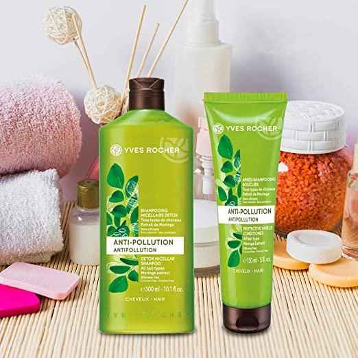 Amazon.com   Yves Rocher Botanical Hair Care Anti Pollution Detox Micellar  Shampoo 4978f78e24e92
