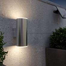 Chester Up & Down Solar Powered Outdoor Wall Light