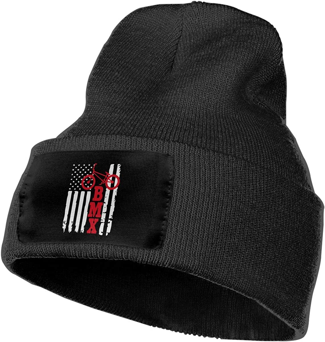 COLLJL-8 Men//Women BMX USA American Flag Outdoor Warm Knit Beanies Hat Soft Winter Skull Caps