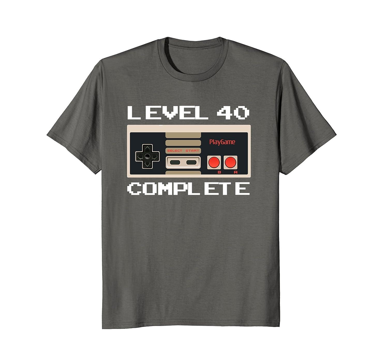 037338b81 Level 40 Complete Video Gamer 40th Birthday T-Shirt for Men-ah my shirt