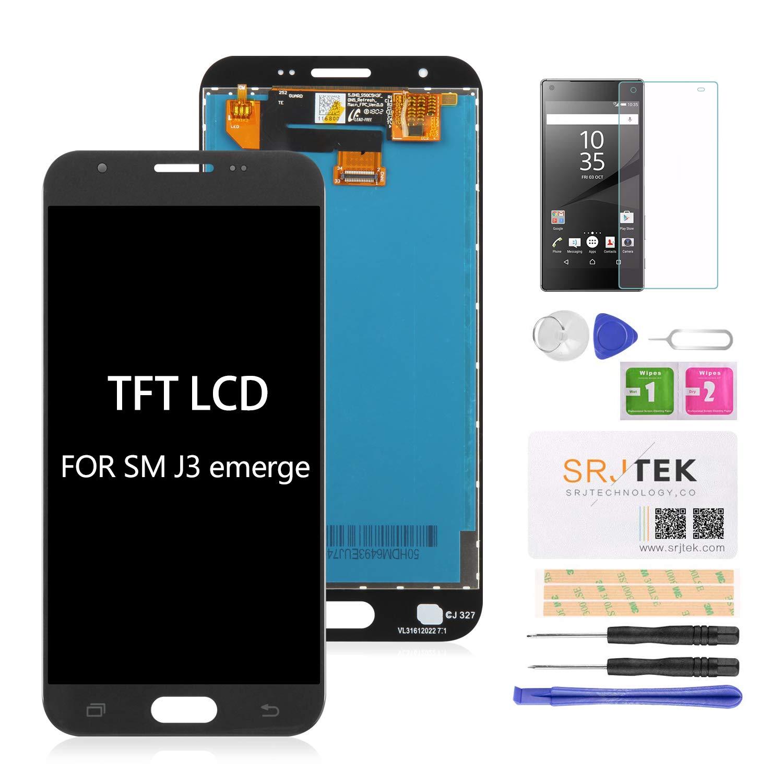 SRJTEK for Samsung Galaxy J3 SM-J327AZ Screen Replacement, LCD Display for  Amp Prime 2 SM-J327AZ Express 327A Eclipse SM-J327VPP Emerge SM-J327P