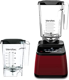 product image for Blendtec Designer 625 Blender - WildSide+ Jar (90 oz) and Mini WildSide+ Jar (46 oz) BUNDLE - Professional-Grade Power - 4 Pre-Programmed Cycles - 6-Speeds - Sleek and Slim - Pomegranate