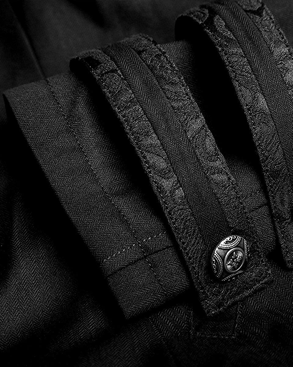 Punk Rave Mens Gothic Morning Jacket Tailcoat Black Steampunk Victorian Wedding
