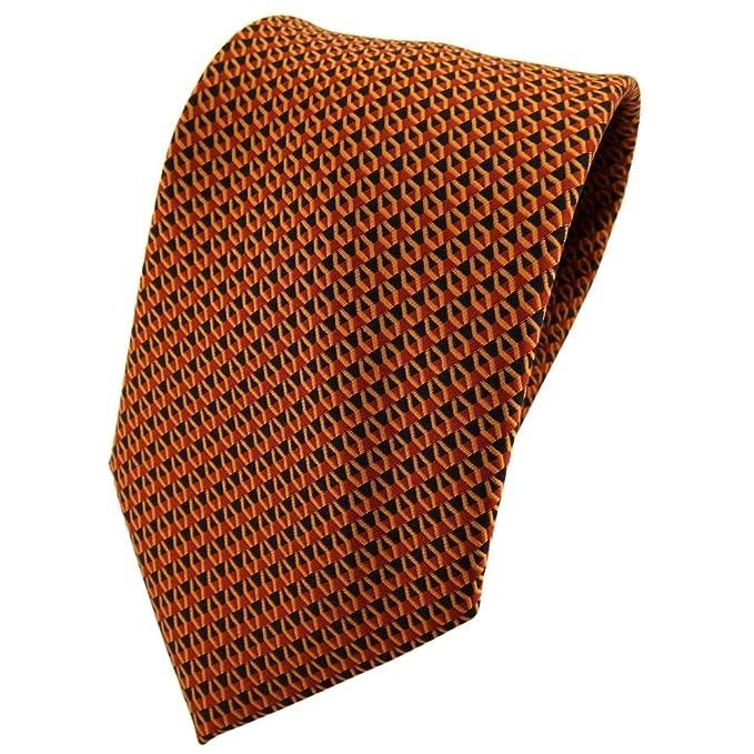 TigerTie - Corbata - naranja marrón marrón anaranjado negro ...