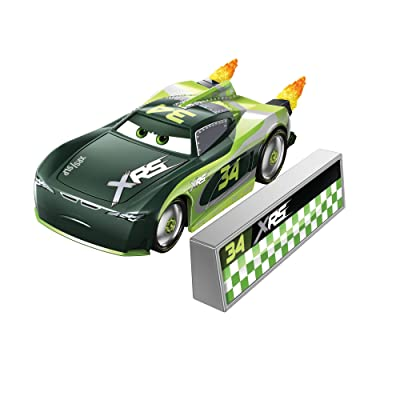 Disney Cars XRS Rocket Racing 1:64 Die Cast Car with Blast Wall: Trunk Fresh #34 Steve \'Slick\' LaPage: Toys & Games [5Bkhe0306420]