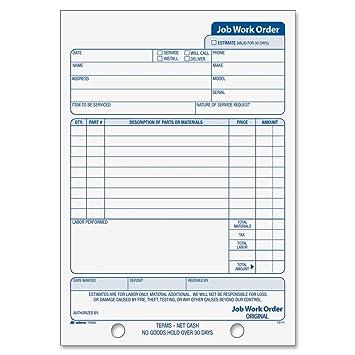Amazon.com : Adams Job Work Order Book, 5.56 x 8.44 Inch, 3-Part ...