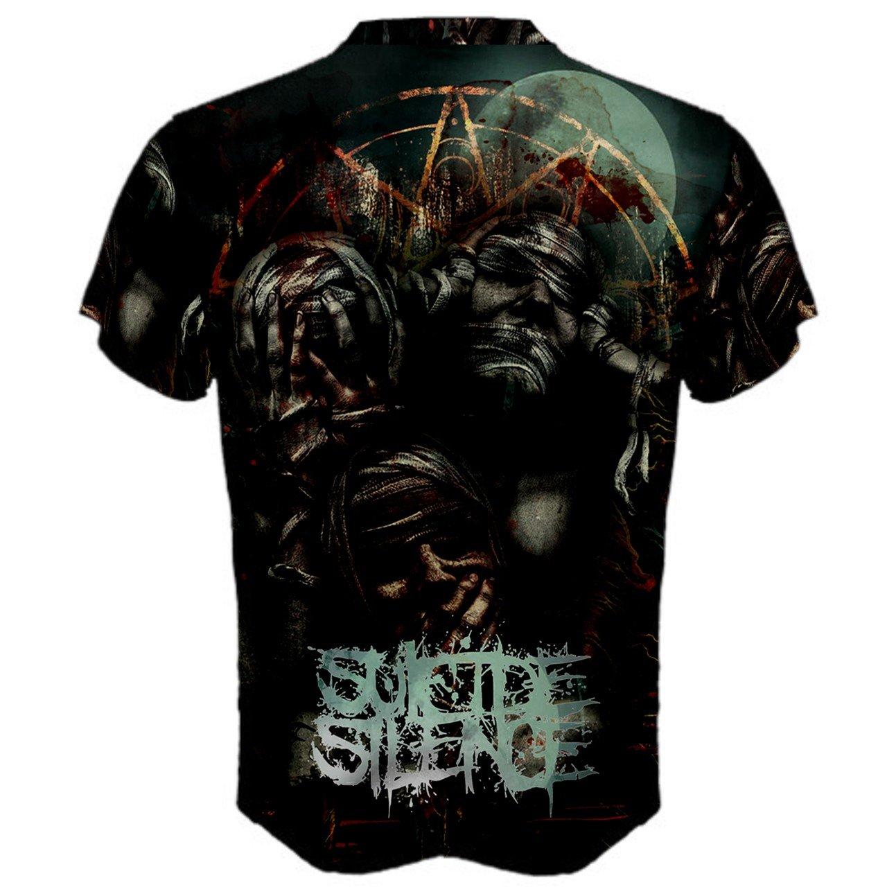 7bec5cbcb Amazon.com : Suicide Silence Rock Metal Fans Psychedelic Hallucinogen  Trippy hipie Full 3D Sublimation Men T-Shirt Full 3D Custom Print T shirt  Tees ...