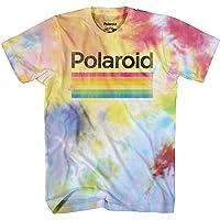 Mad Engine Men's Classic Polaroid Logo Vintage Style Rainbow T-Shirt