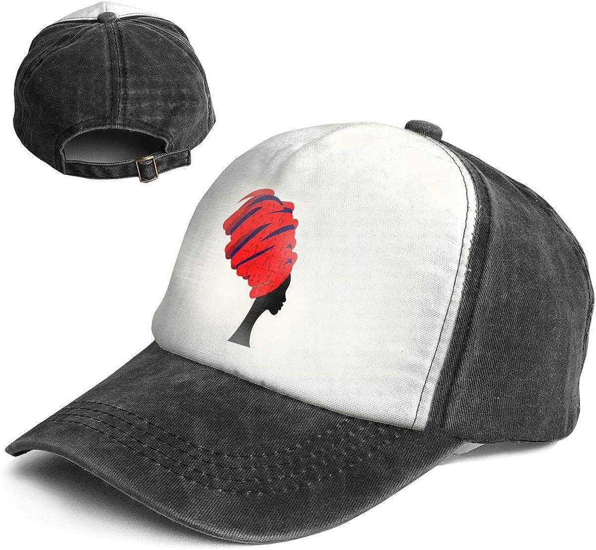 Fashion Vintage Hat African Women Adjustable Dad Hat Baseball Cowboy Cap