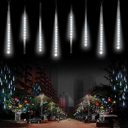 amazon com rain drop lights komake meteor lights 8 tubes led