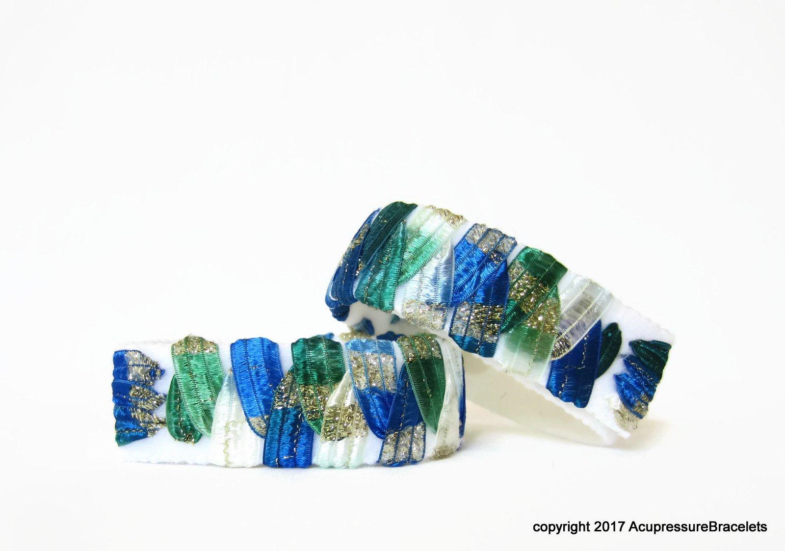 Designer Acupressure Anti Nausea Bracelets (pair) Scuba (small/child 6.5'')