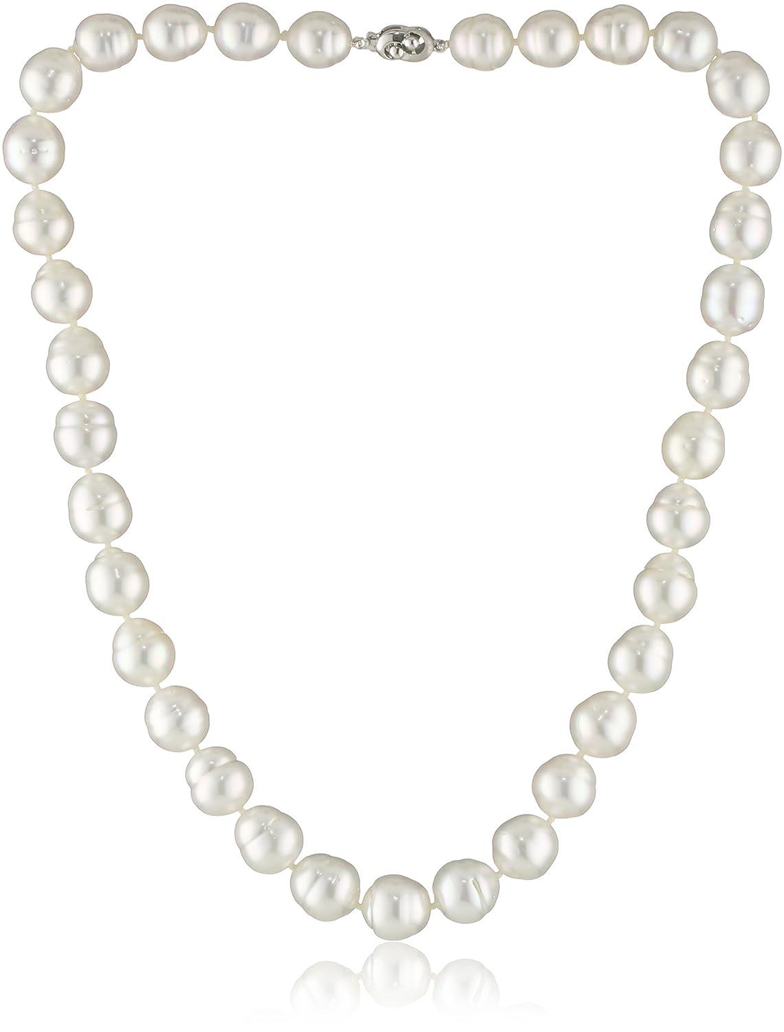Amazon.com: Tara perlas natural-color Blanco South Sea Perla ...
