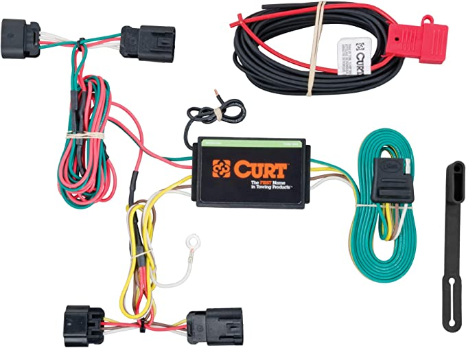 amazon.com: curt 56211 vehicle-side custom 4-pin trailer wiring harness for  select chrysler 200, dodge avenger: automotive  amazon.com