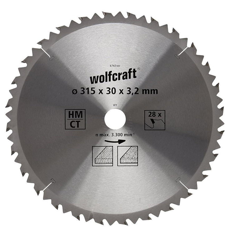 Kreissägeblatt Set 2 tlg 300 x 30 mm HM CV 28 56 Zähne Wolfcraft 6662000 6602000