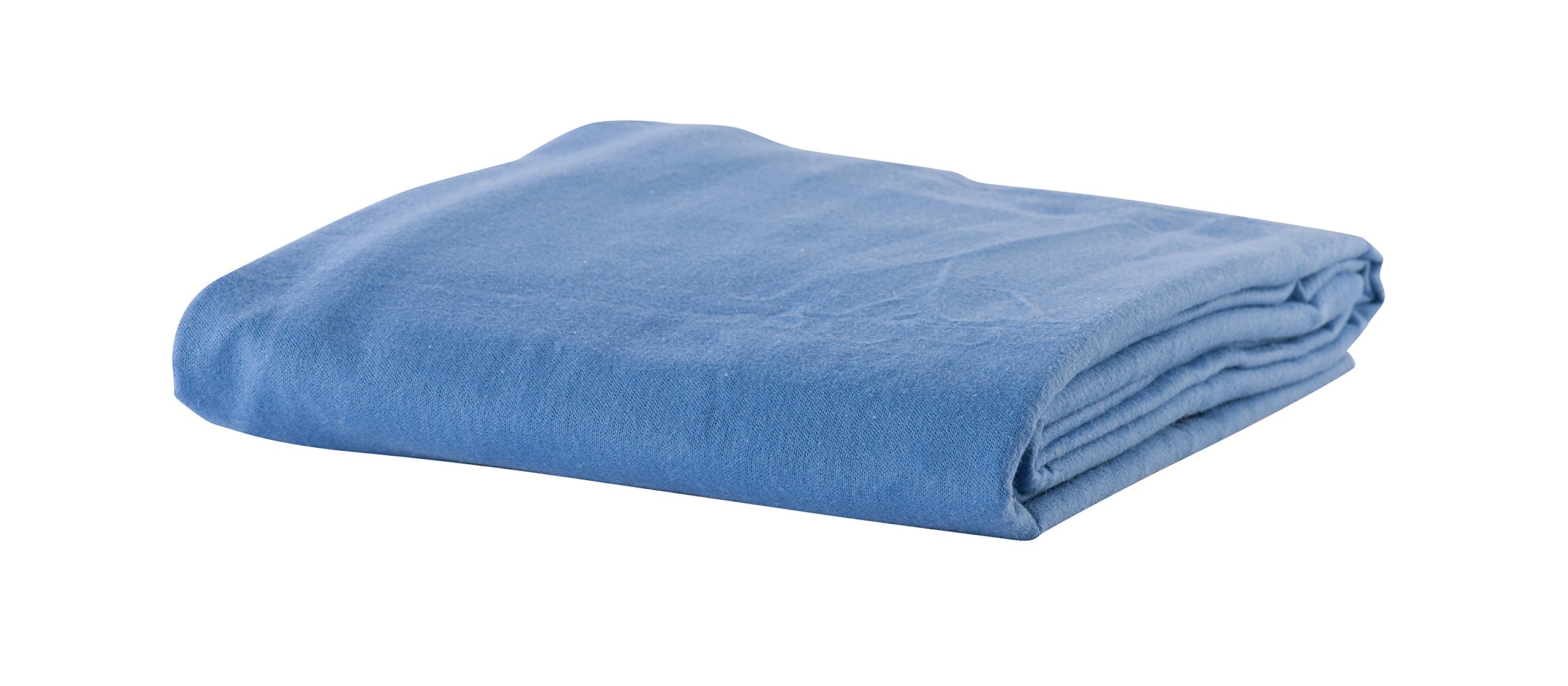 NRG Deluxe Massage Flannel 3 Piece Sheet Set Including Face Rest Cover, Flat Sheet & Fitted Sheet Massage Tables (Twilight Blue)
