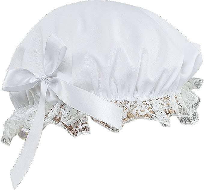 Victorian Hat History | Bonnets, Hats, Caps 1830-1890s  Victorian Ladies Bonnet Hat With Lace Trim $31.99 AT vintagedancer.com