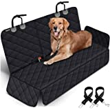 Dog Car Seat Covers Pet Seat Cover, Waterproof Nonslip Bench Rear Seat Cover Compatible for Middle Seat Belt Fits Most Cars,