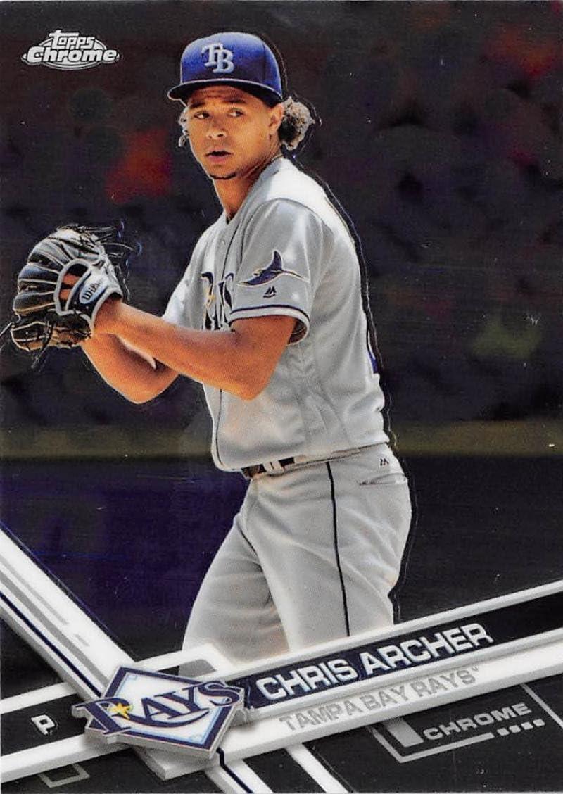 2017 Topps Chrome #177 Chris Archer Tampa Bay Rays Baseball Card