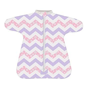 Amazon.com  Cozy Baby Sleeper Swaddle Wearable Blanket by Revelae - Sweet  Chevron - 6-9 Month  Baby c3355cf31