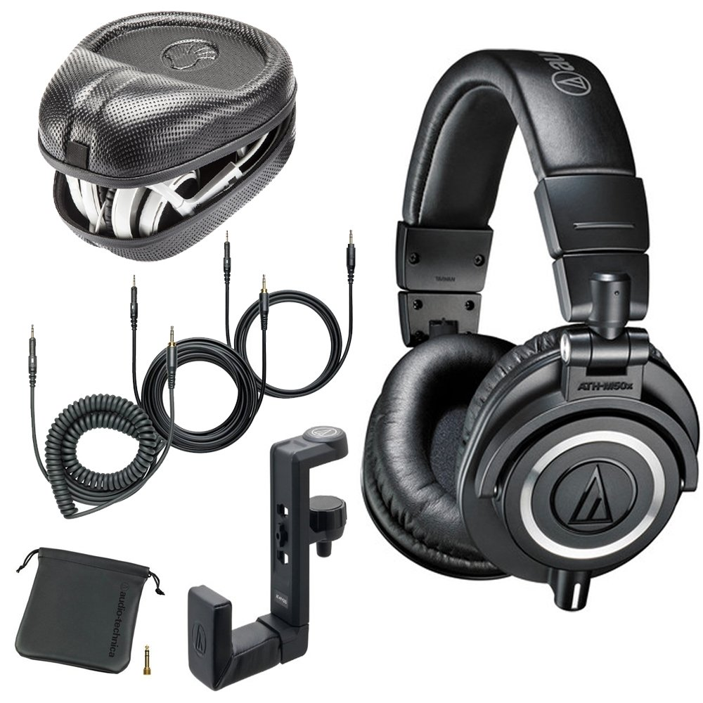 Audio-Technica ATH-M50x Monitor Headphones Black w Hard Case