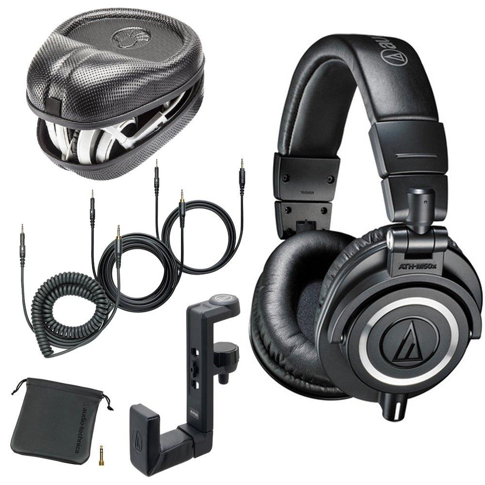 Audio-Technica ATH-M50x Monitor Headphones (Black) (with Amp)