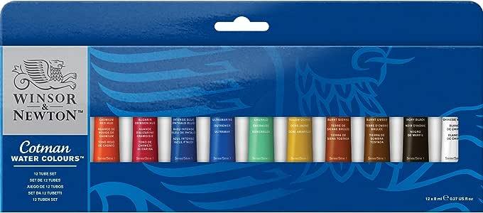 Winsor & Newton - Juego de tubos de pintura para acuarela (8 ml ...