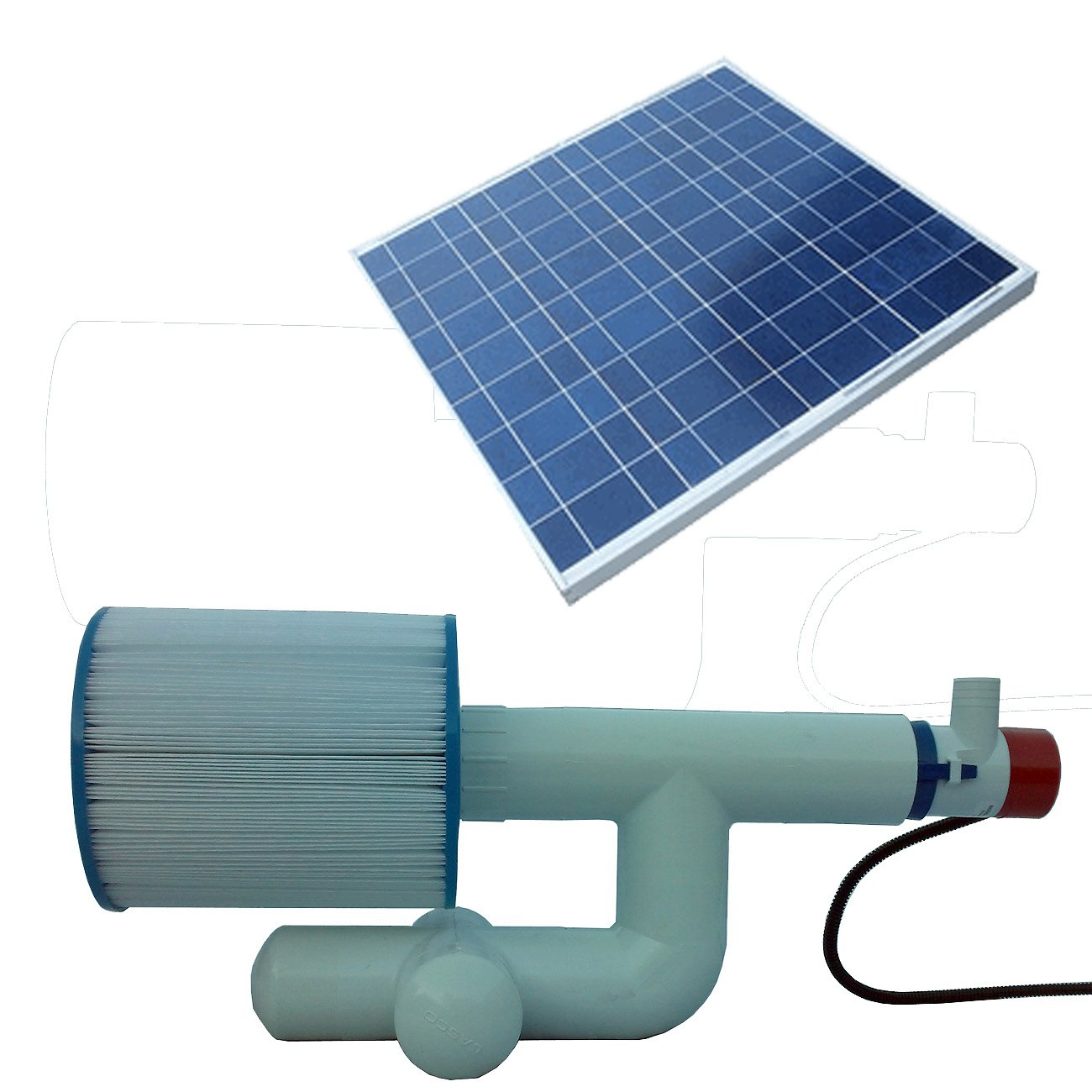 Natural Current Savior Bottom Feeder Pool/Spa Solar Pump and Filter System, 20-watt by Natural Current (Image #1)