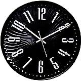 ROYSTAR Analog Designer Wall Clock - 31 cm (12 INCH), Black Color