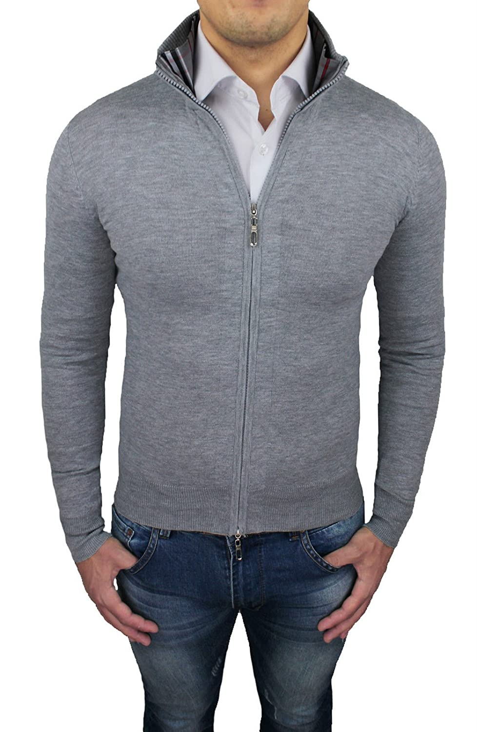 Tony Backer Men's Cardigan grey grey Large