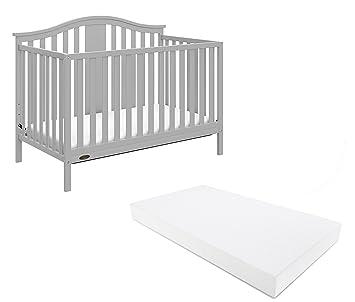 Graco Solano 4 In 1 Convertible Crib And Bonus Mattress Pebble Gray