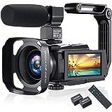 4K Video Camera Camcorder, Vlogging Camera 48MP 60FPS YouTube Camera WiFi Night Vision IPS Touch Screen Video Camera Digital