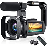 4K Video Camera Camcorder, Vlogging Camera 48MP 60FPS YouTube Camera WiFi Night Vision IPS Touch Screen Video Camera…