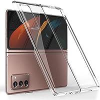 Miimall Carcasa Compatible con Samsung Galaxy Z Fold 2, Transparente Frontal y Trasera PC Case [Anticaída] [Anti-arañazo…