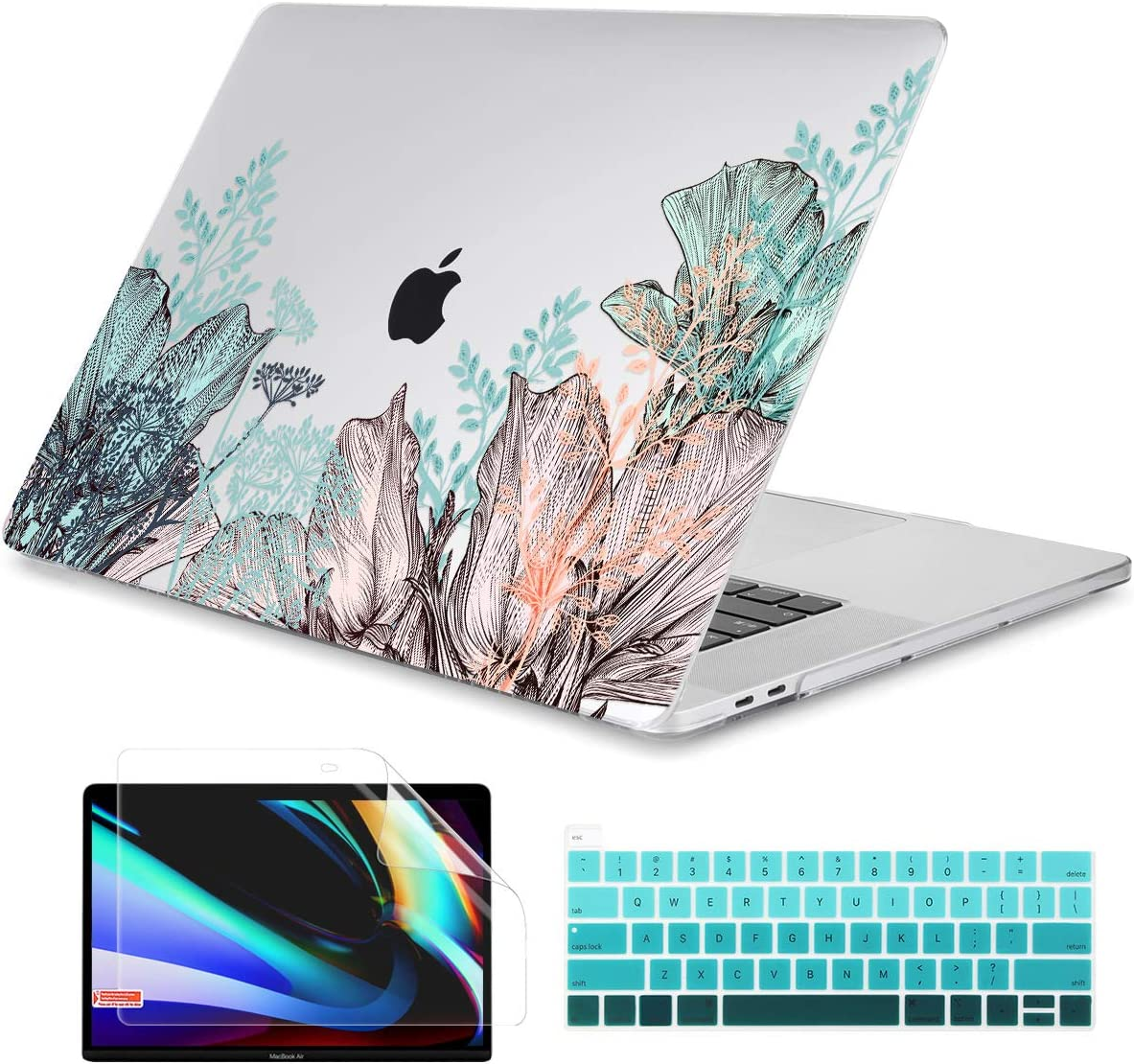 Dongke MacBook Pro 13 inch Case Model A2251/A2289 2020 Released, Plastic Hard Shell Case Cover for MacBook Pro 13 inch with Retina Display & Touch Bar Fits Touch ID, Small Summer Field