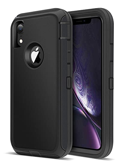 the latest 4f022 cd7be iMangoo Defender iPhone XR Case, iPhone 10R Case Outdoor Sports Heavy Duty  Shockproof Full Body Protection Cover iPhone 10 R Case Non-Slip Matte Phone  ...