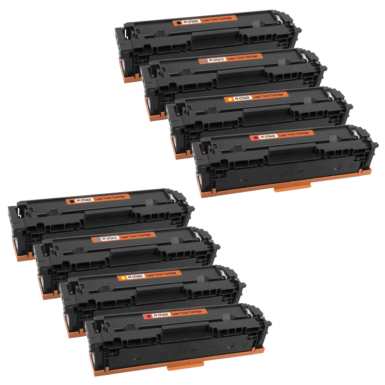 Cartucho platinumserie cf540 para HP cf540 platinumserie X de cf543 X Color Laserjet Pro M 254 DNW MFP M 281 FW 281 FDW, Color (9) 1x Toner Amarillo b43a5e